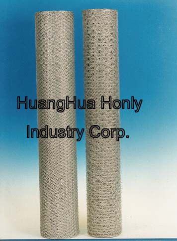 galv.hex.iron wire netting
